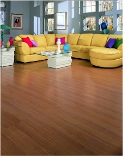 window treatments and laminate flooring